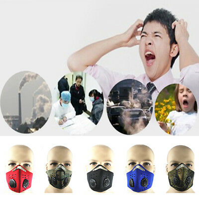 Anti Dust Pollution Half Face Mask Filters Cycling Motorbike Motorcycle Bicycle@
