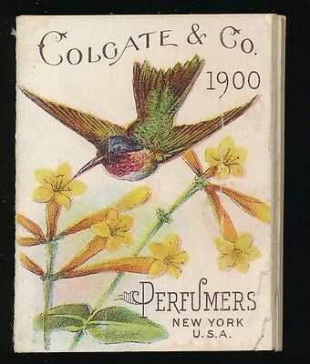 1900 Colgate & Co. Perfumers (NY) MINIATURE CALENDER BOOKLET (BIRDS) -Very Tough