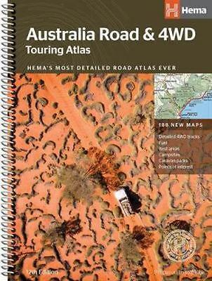 NEW Australia Road & 4WD Atlas Touring Atlas By Hema Maps Spiral Ringed Book