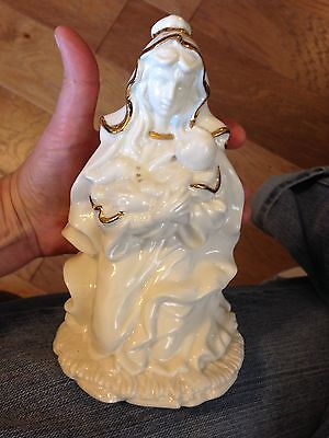 New White Ceramic Seven Inch Maria And Child Figurine With Free Shipping
