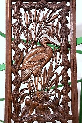 Paradise Lacework Lace Panel Antique French Hand Carved Wood Carving Sculpture 1
