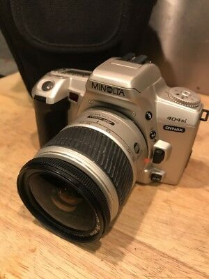 Minolta Dynax 404si 35mm SLR Film Camera With AF 28-80 Zoom Lens