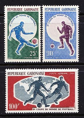 Gabon 1966 World Cup Football Championship - Set of 3 - Cat £5.75 - (261)