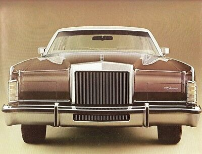 1978 Lincoln Continental Town Car/Coupe 20 Page 75TH Anniversary Sales Brochure