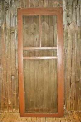 Vintage WOOD SCREEN DOOR wooden brown country rustic farmhouse front patio porch