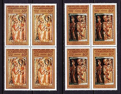 Gabon 1978 Christmas Issue - Religious Sculptures - MNH Blocks - Cat £7 - (284)