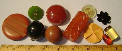 Lot of 11 Rare VINTAGE Bakelite Etc, Findings Shapes for Art Assemblage - As Is