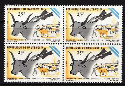 Upper Volta 1966 Prevention of Cattle Plague Campaign - MNH block of 4 - (293)