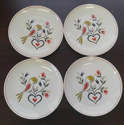 "Homer Laughlin American Provincial Lot of Four 8"" Plates (5lb)"