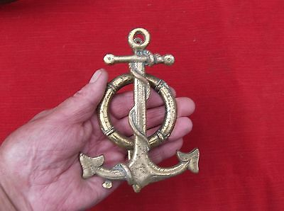 Antique Large Heavy Brass Anchor Door Knocker/maritime Anchor Door Striker