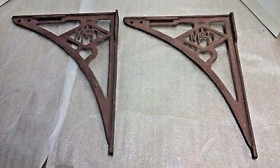 Pair of  Antique Cast Iron Shelf Brackets A.Y. McDonald Mfg. Co. Dubuque Ia.