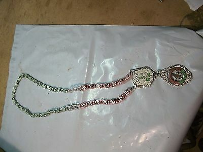 Old IOOF Oddfellows Lodge Ceremonial Metal Neck Chain & Medallion