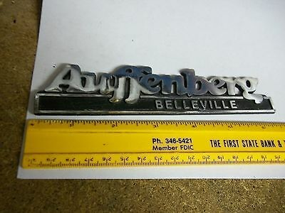Old Metal Car Dealer Emblem Auffenberg Belleville