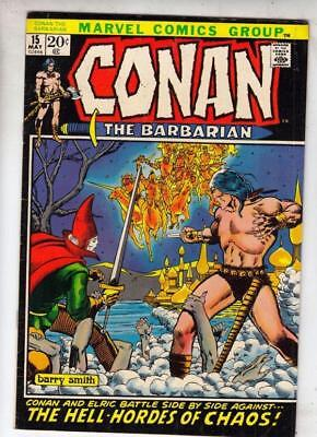 Conan 15 the Barbarian strict VF/NM 9.0 1972 Barry Smith Art Free U.S. Shipping