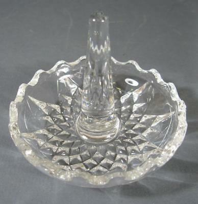 Vintage lead crystal/glass ring holder dressing table display