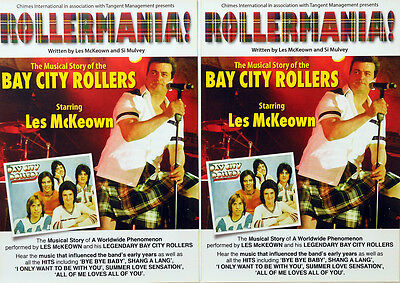 2 X BAY CITY ROLLERS LES McKEOWN ROLLERMANIA 2011 TOUR FLYERS - BRAND NEW