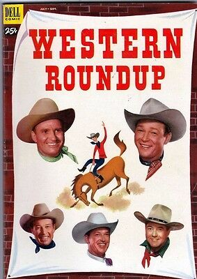 Dell Giant Western Roundup 3 strict 1953 FN/VF Mid-High-Grade Roy Rogers Trigger