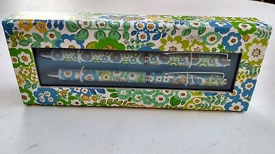 Vera Bradley English Meadow Perfect Match Pen and Pencil Set Mechanical Pencil
