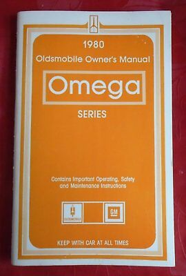 1980 Omega Series Oldsmobile Owner's Manual Operating Safety Maintenance
