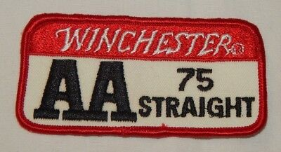 Vintage Winchester AA 75 Straight Trap Shooting Skeet Shooting Advertising Patch