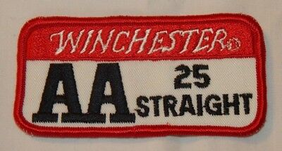 Vintage Winchester AA 25 Straight Trap Shooting Skeet Shooting Advertising Patch