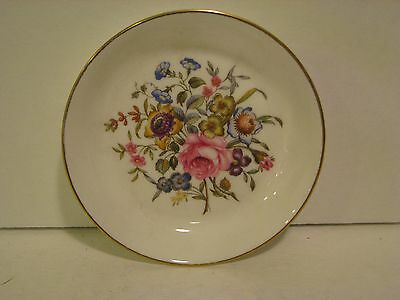 COLLECTIBLE ROYAL WORCESTER FINE BONE CHINA ENGLAND FLORAL PLATE DISH   4 1/2 in