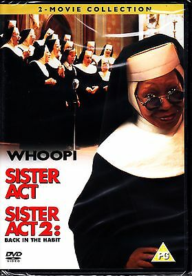 SISTER ACT 1 AND 2 (BACK IN THE HABIT) Whoopi Goldberg 2 Disc DVD New & Sealed