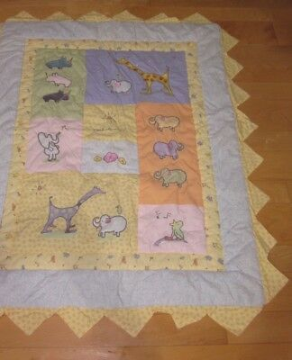Carters John Lennon Animal Multi Color Baby Quilt Blanket