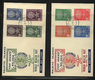 Maldive Islands  87-94  on  2 cachet covers           MS0219