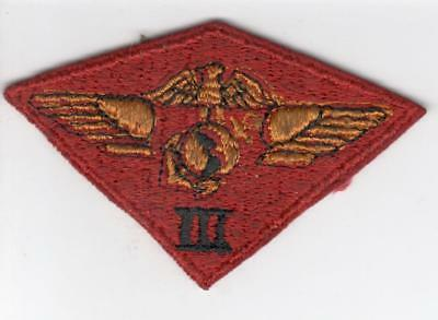 WW 2 USMC Marine 3rd Air Wing Patch Inv# Z375