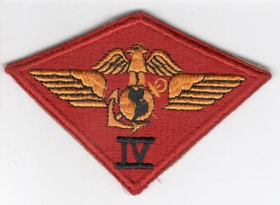 WW 2 USMC Marine 4th Air Wing Patch Inv# Z376