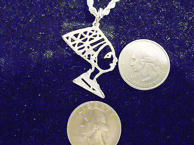 bling silver plated ancient egyptian queen pendant charm hip hop chain Necklace