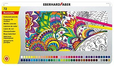 EBERHARD FABER Hexagonal-Buntstift, 72er Metalletui