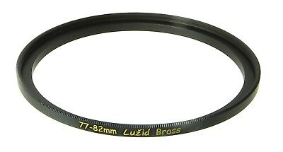 LUŽID X2 Brass 77mm 82mm Step Up Filter Ring Adapter 77 82 Stepping Lens Luzid