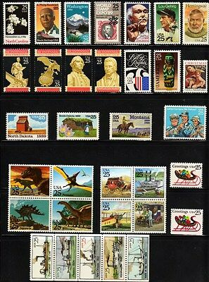 1989 Commemorative Year set W/Sheets & Priority   (36 Stamps) - MNH