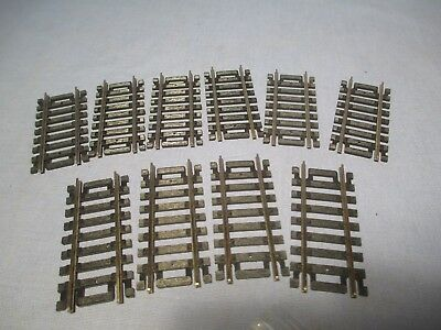 "HO Scale 10 Atlas Code 100 Nickel Silver 2.5"" Straight Sections /   NR 487"
