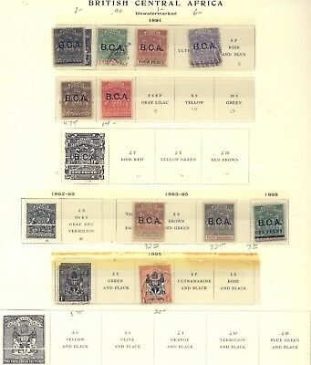 British  Central Africa nice page lot          KL1217