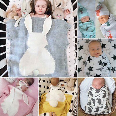 Newborn Infant Baby Swaddle Blanket Bath Robe Kids Sleeping Boy Girl Muslin Wrap