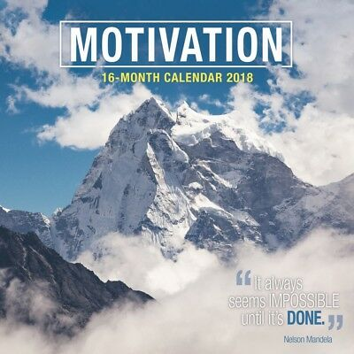 2018 Motivation Wall Calendar,  Inspirational Quotes by Vista Stationery & Print