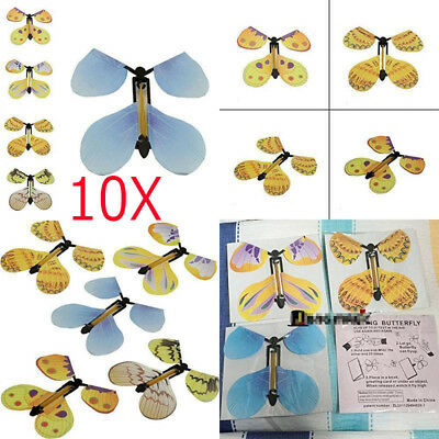 10PCS Magic Flying Butterfly Birthday Anniversary Wedding card gift toy SURPRISE
