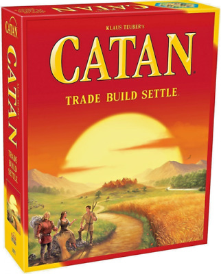 Catan Trade Build Settle Board Game Settlers Of Catan Sealed Family Party Game
