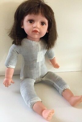 """The Cathay Collection 21"""" Brunette Baby Doll Brown Eyes Limited 334/5000 Laughs"""