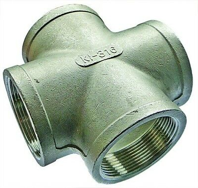 """SSCX32 2"""" BSPP Equal Cross Stainless Steel Fitting"""