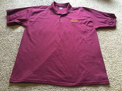 Nice men's size XL Gildan DryBlend Wildfire Gaming burgundy Casino polo shirt
