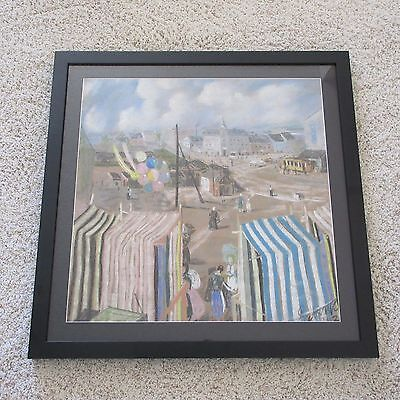 Impressionist Master  Antique Art Deco Nouveau Cityscape Painting Drawing Old