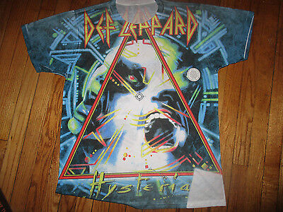 Brand New DEF LEPPARD Hysteria All Over Dye Sublimated Print T Shirt XXL Blemish