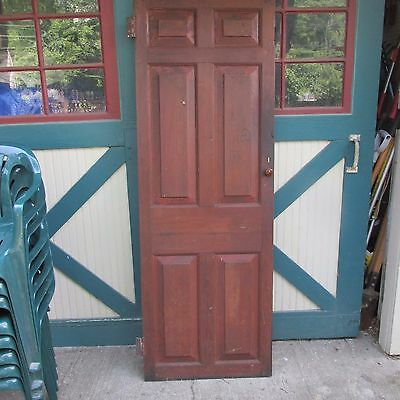 Antique Hand Made Wooden Cross & Book Door, Bennington Knob,Through Tenon,1840's