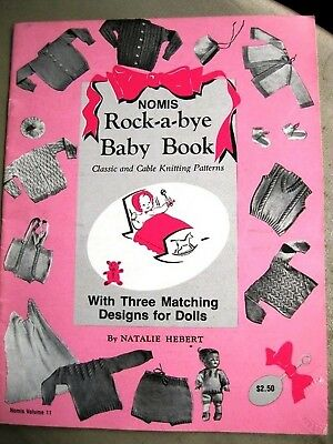 Nomis 011 BABY BOOK  32pg knitting patterns booklet TO 3 YRS + baby doll