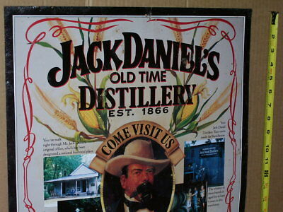 JACK DANIEL'S Whiskey Distillery INVITATION WELCOME Big Sign USED THRU TENNESSEE