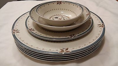 8pc OLD COLONY Dinner & Salad Plate ROYAL DOULTON Berry Bowl Discontinued